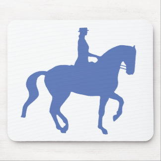 Piaffe Dressage Horse and Rider (blue) Mouse Pad