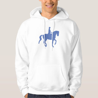 Piaffe Dressage Horse and Rider (blue) Pullover