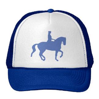 Piaffe Dressage Horse and Rider (blue) Trucker Hat