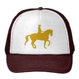 Piaffe Dressage Horse and Rider (gold) Trucker Hat