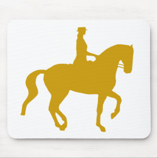Piaffe Dressage Horse and Rider (gold) Mouse Pad