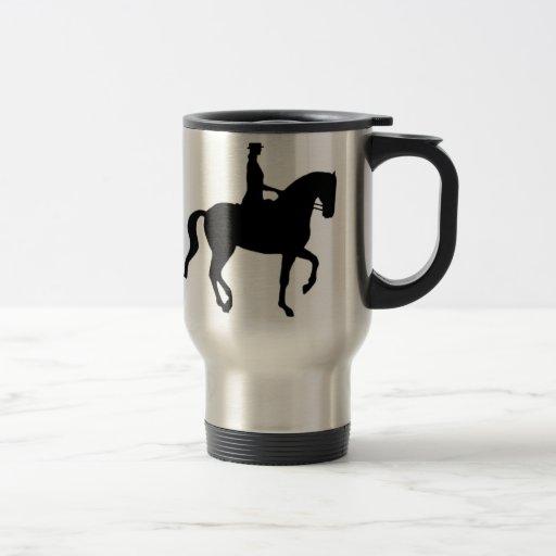 Piaffe Dressage Horse and Rider Mugs
