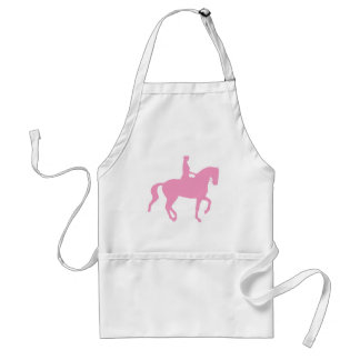 Piaffe Dressage Horse and Rider pink Apron