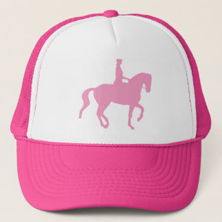 Piaffe Dressage Horse and Rider (pink) Trucker Hat