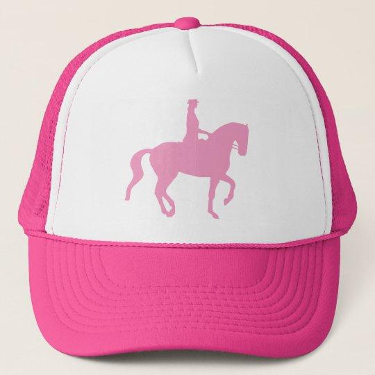 Piaffe Dressage Horse and Rider (pink) Trucker Hat
