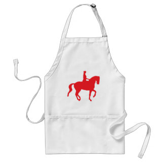 Piaffe Dressage Horse and Rider red Aprons