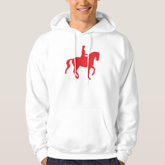 Piaffe Dressage Horse and Rider (red) Hoodie