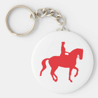 Piaffe Dressage Horse and Rider (red) Basic Round Button Keychain