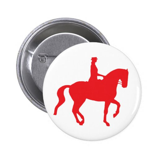 Piaffe Dressage Horse and Rider (red) Pins