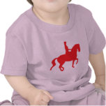 Piaffe Dressage Horse and Rider (red) T-shirt