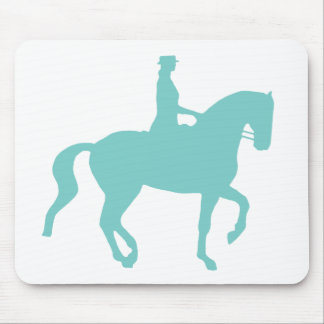 Piaffe Dressage Horse and Rider (teal) Mouse Pad