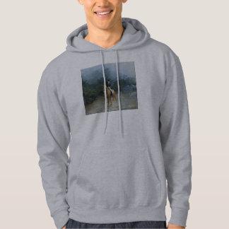 Piaffe Dressage Horse Art Hooded Sweatshirt