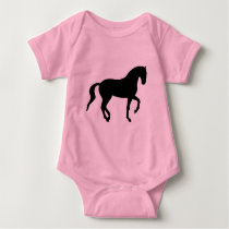 Piaffe Horse (black) Baby Bodysuit