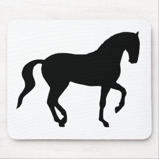 Piaffe Horse (black) Mouse Pad