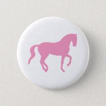 Piaffe Horse (pink) Pinback Button