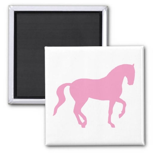 Piaffe Horse (pink) Refrigerator Magnet