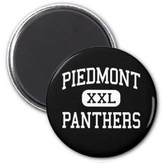 Piamonte - panteras - alto - Monroe Carolina del N Imán Redondo 5 Cm