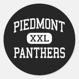 Piamonte - panteras - alto - Monroe Carolina del N Pegatina Redonda