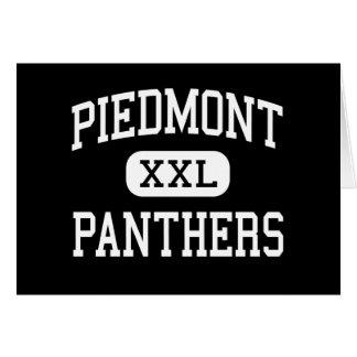 Piamonte - panteras - alto - Monroe Carolina del N Tarjeta De Felicitación