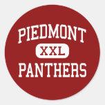 Piamonte - panteras - centro - Monroe Etiquetas Redondas