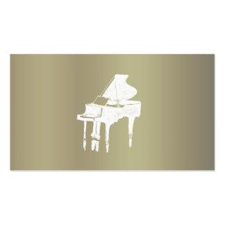 pianist ビジネスカードテンプレート