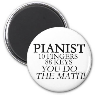 Pianist 10 Fingers 88 Keys 2 Inch Round Magnet