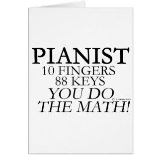 Pianist 10 Fingers 88 Keys Card