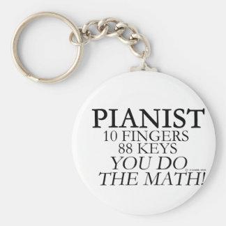 Pianist 10 Fingers 88 Keys Keychain
