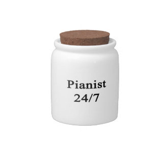 Pianist 24/7 candy dishes
