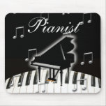 Pianist and Keyboard Mouse Pad