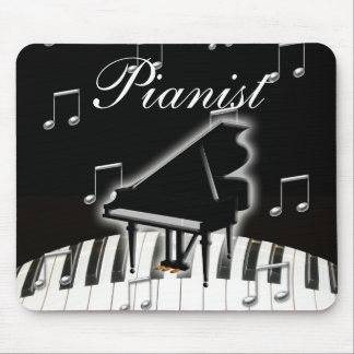 Pianist and Keyboard Mousepads
