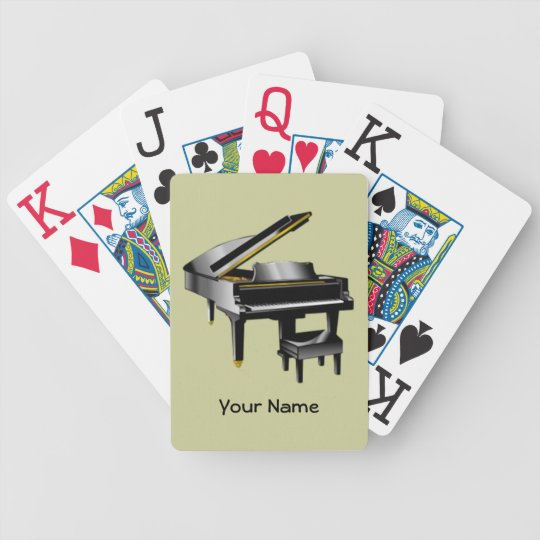 Pianist Bicycle Playing Cards