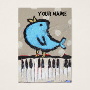 Pianist Business Card at Zazzle