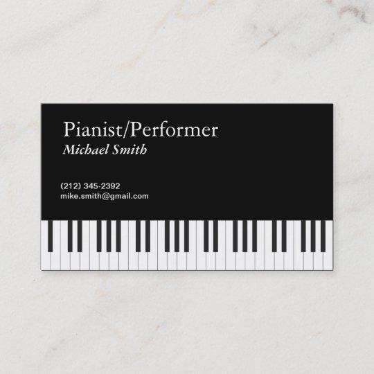 Pianist Business Card Zazzle