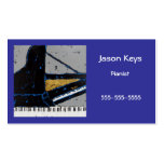 pianist business card with cool grand
