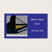 pianist business card with cool grand at Zazzle