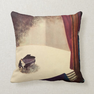 Pianist Concert Hall Piano Player Music Instrument Throw Pillows