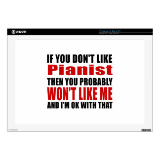 """Pianist Don't Like Designs 17"""" Laptop Decal"""
