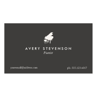 Pianist Elegant and Simple Black Business Card
