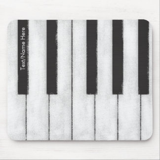 Pianist for Life - Chalkboard Piano Mouse Pad