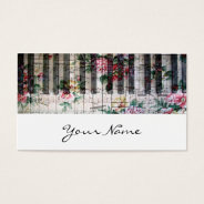 Pianist Keyboard Girly Vintage Music Profile Card at Zazzle