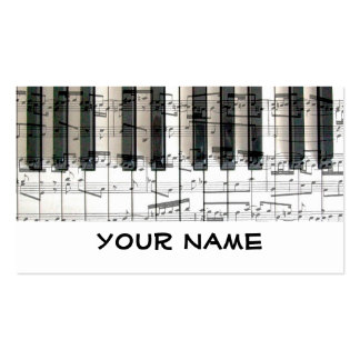 pianist keyboard piano music Double-Sided standard business cards (Pack of 100)