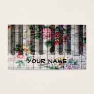 Pianist Keyboard Piano Vintage Girly Music Business Card at Zazzle