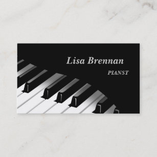 Pianist Business Cards Zazzle