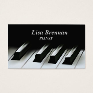 Pianist  Musician , Classics Player Teacher School Business Card