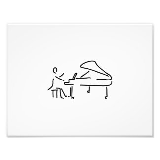 Pianist musician plays piano piano wing photo print
