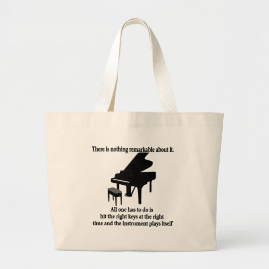 Pianist Musician T-shirts and Gifts Large Tote Bag