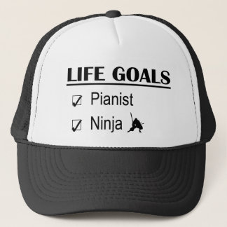 Pianist Ninja Life Goals Trucker Hat