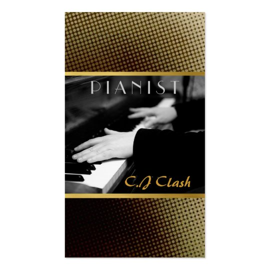 Pianist, Piano, Lessons, Music Entertainment Business Card