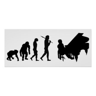 Pianist Piano Orchestra Composer Mozart gear Posters